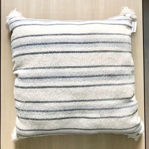 Wendy Bellissimo Throw Pillow striped Blue